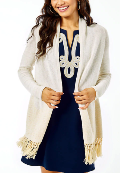 Lilly Pulitzer Tatum Cardigan Gold