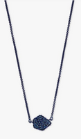 Kendra Scott Tess Necklace in Navy with Blue Drusy
