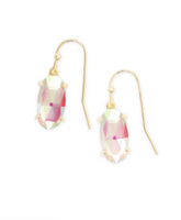 Kendra Scott Lemmi Gold Earrings in Dichroic Glass