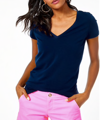 Lilly Pulitzer Michele Top True Navy