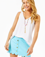 Lilly Pulitzer Florin Sleeveless V-Neck White