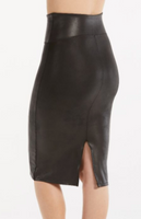 Spanx Faux Leather pencil skirt Very Black