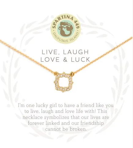 Spartina Live, Laugh, Love, and Luck Necklace