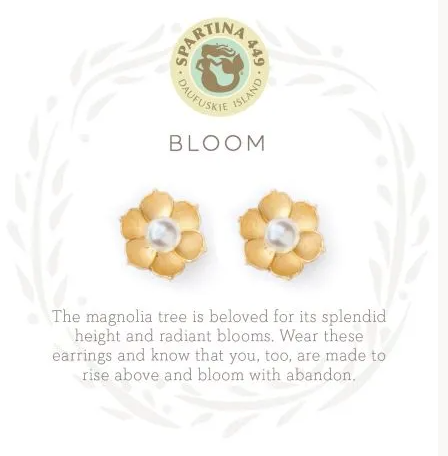 Spartina Bloom Earring Gold