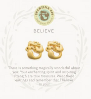 Spartina Believe Earrings Gold