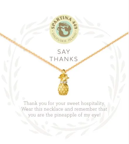 Spartina Say Thanks Necklace Gold