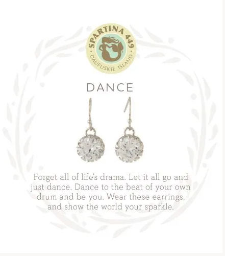 Spartina Dance Drop Earrings Silver
