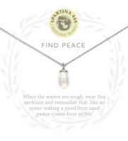 Spartina Find Peace Necklace Silver