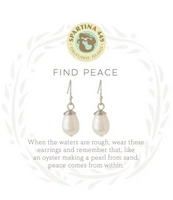 Spartina Find Peace Earring Silver