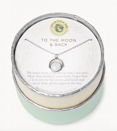 Spartina To The Moon and Back Necklace Silver