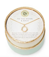 Spartina To The Moon and Back Necklace Gold