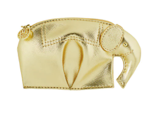 Lilly Elie Coin Purse Gold Metallic