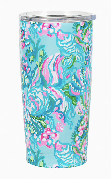 Lilly Double Wall Tumbler Aqua La Vista