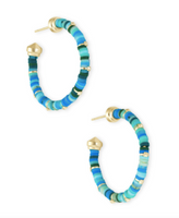 Kendra Scott Reece Small Earrring Gold and Teal Beads