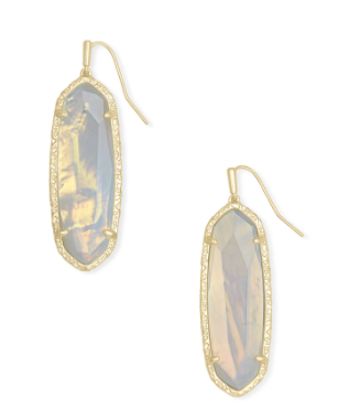 Kendra Scott Layla Gold Drop Earrings in Opalite Illusion