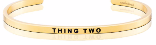 MantraBand Gold Thing Two
