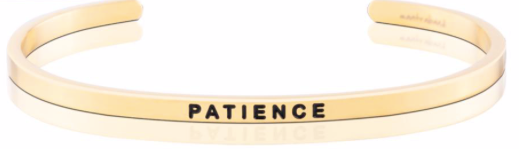 MantraBand Gold Patience