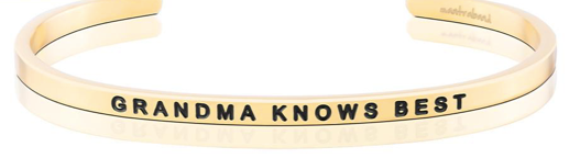 MantraBand Gold Grandma Knows Best