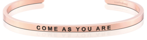 "MantraBand Rose Gold ""Come as you are"" Bracelet"