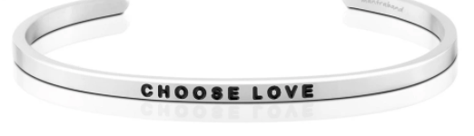 MantraBand Silver Choose Love Bracelet