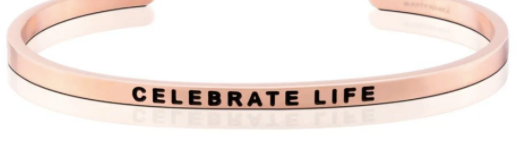 MantraBand Rose Gold Celebrate Life Bracelet