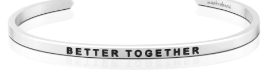 "MantraBand Silver ""Better Together"" Bracelet"