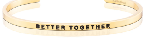 "MantraBand Gold ""Better Together"" Bracelet"