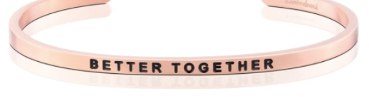 "MantraBand Rose Gold ""Better Together"" Bracelet"