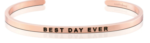 "MantraBand Rose Gold ""Best Day Ever"" Bracelet"