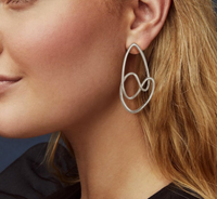 Kendra Scott Myles Statement Earring in Rhodium