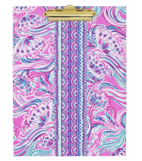 Lilly Pulitzer Clipboard Folio in Don't Be Jelly