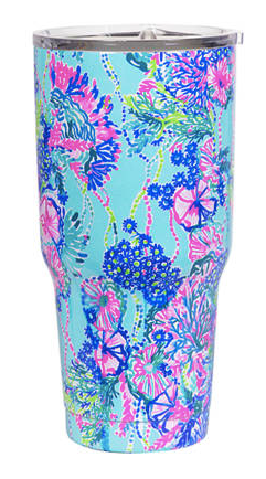 Lilly Pulitzer Stainless Steel Insulated Tumbler with lid in Beach You To It