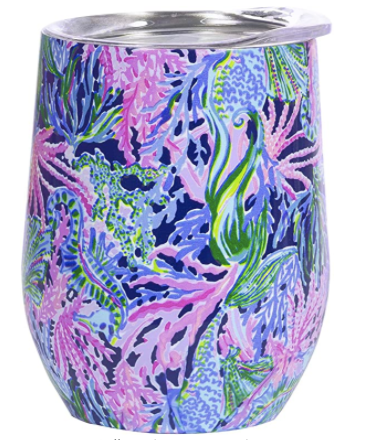 Lilly Pulitzer Insulated Stemless Tumbler in Bringing Mermaid Back