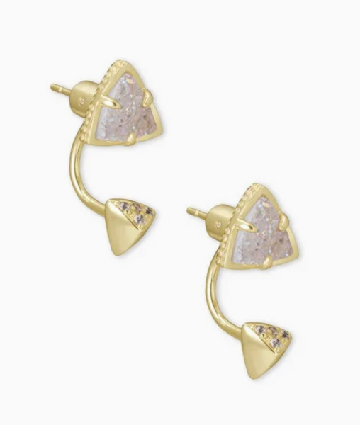 Kendra Scott Perry Ear Jacket in Gold with Iridescent Drusy