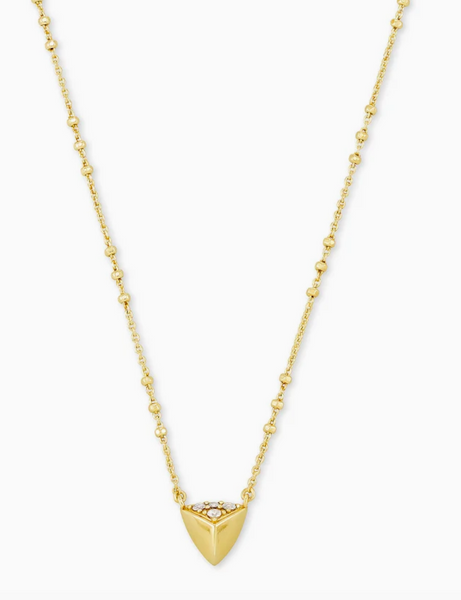 Kendra Scott Perry Short Pendant in Gold
