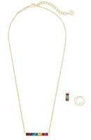 Kendra Scott Jack Pendant and Huggie Set in Gold Jewel Tone