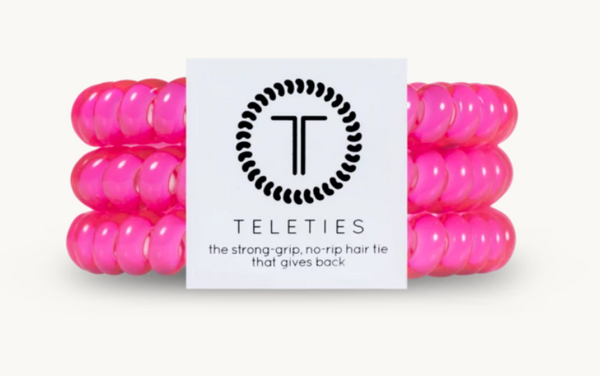 "Teleties Small 3 Pack ""Hot Pink"""