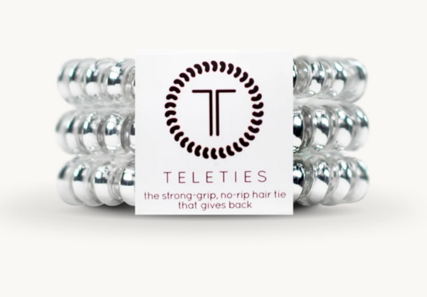"Teleties Small 3 Pack ""Electric Silver"""