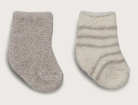 Barefoot Dreams Cozychic 2 Pair Infant Sock Stone