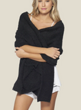 Barefoot Dream CozyChic Travel Shawl in black