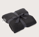 Barefoot Dreams CozyChic Light Ribbed Throw in Carbon