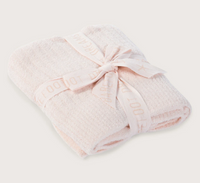 Barefoot Dreams Cozychic Light Ribbed Baby Blanket in Pink 30x40