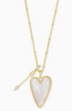 Kendra Scott Ansley Long Pendant in Ivory Mother Of Pearl