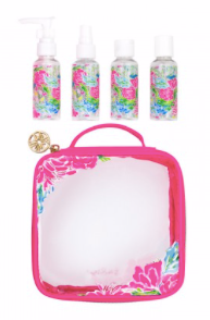 Lilly Pulitzer Travel Bottle Set in Bunny Business