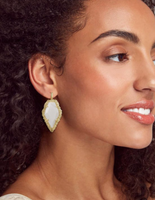 Kendra Scott Tessa Gold Drop Earring in White Mussel