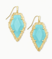 Kendra Scott Tessa Gold Drop Earring in Light Blue Magnesite