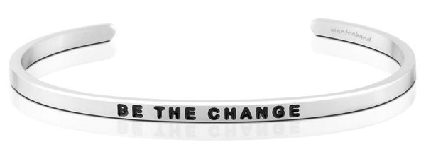 "MantraBand Silver ""Be The Change"" Bracelet"