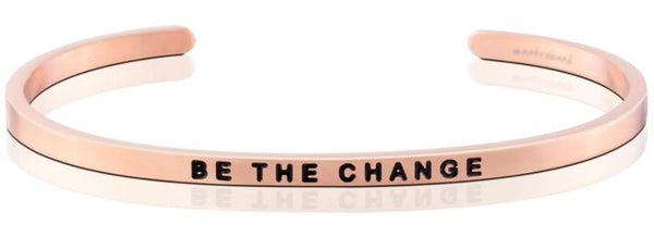 "MantraBand Rose Gold ""Be The Change"" Bracelet"