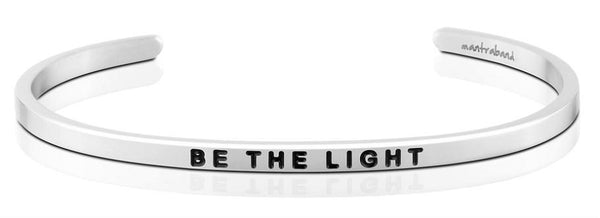 "MantraBand Silver ""Be the light"" Bracelet"