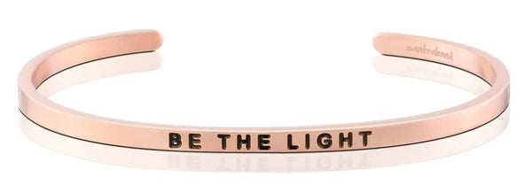 "MantraBand Rose Gold "" Be the light"" Bracelet"